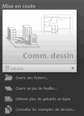 Le bouton Comm. dessin