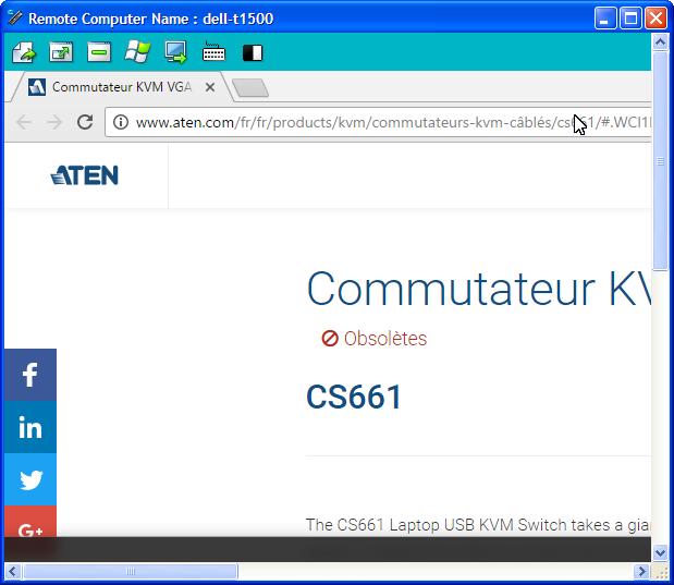 L'interface du logiciel Aten