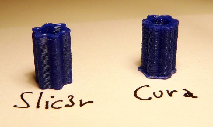 Différence de qualité entre Slic3r et Cura