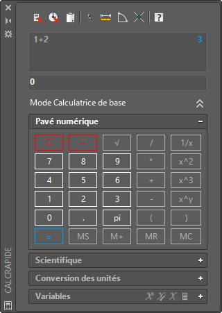 """La calculatrice """"rapide"""" dans AutoCAD"""