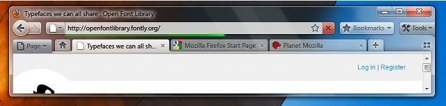 Barre d'adresse de Firefox 4