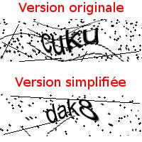 2 captchas avec des valeurs différentes de bruit
