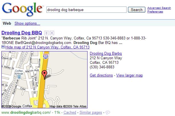 Les cartes Google