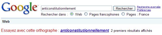 La correction de l'orthographe Google