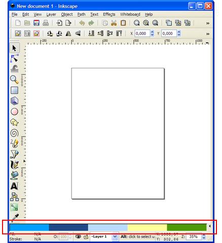 La palette de couleurs d'Inkscape