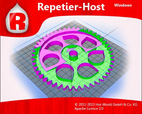 L'écran d'accueil de Repetier-Host